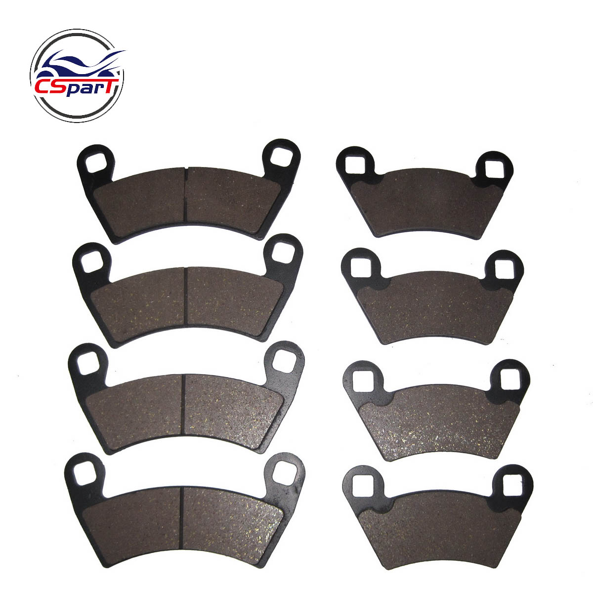 4 SET Semi-metallic Non-asbestos Front & Rear Brake Pads For Polaris Ranger 500 2x4 Carb, XP 700  800 4x4 RZR-4 900