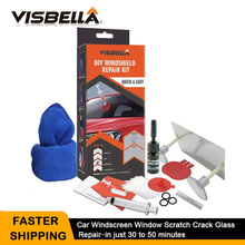 VISBELLA DIY Windshield Repair Kit Auto Windscreen Glass Windshield Scratch Crack Restore Tools Car Care Repair Kit with cloth