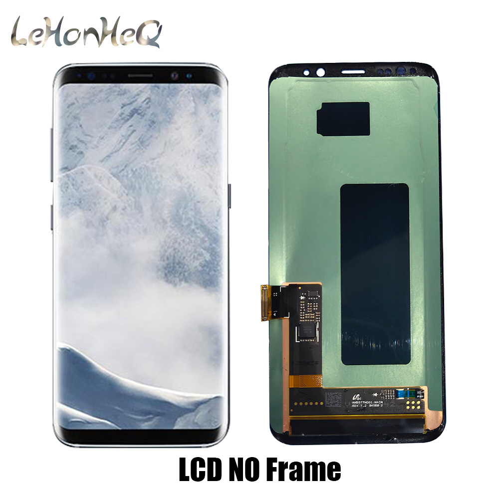 100% New Super AMOLED LCD For <font><b>Samsung</b></font> Galaxy <font><b>S8</b></font> G950 <font><b>G950FD</b></font> <font><b>S8</b></font> Plus G955F G955 G955FD <font><b>Display</b></font> Touch Screen Digitizer assembly image