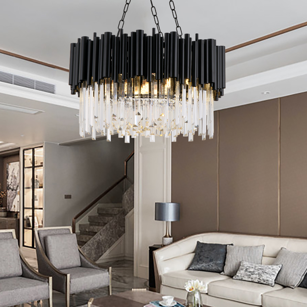 Luxury Annular Crystal Chandelier Modern Indoor Lighting Led Ceiling Hanging Lamp for living room dining room hotel lobby area