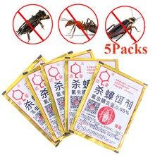 5 pacotes de baratas assassino em pó formigas repelente repeller armadilha assassino formiga matando iscas controle de pragas destruir jardim fornecedor dropsh