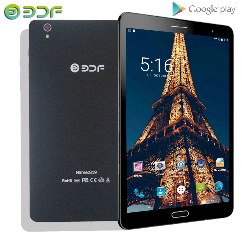 2019 BDF 8 Inch Tablet  3G Sim Card Android 6.0 Quad Core Tablets Pc 1GB RAM 32GB ROM Mobile Phone Call Network Pad Pc