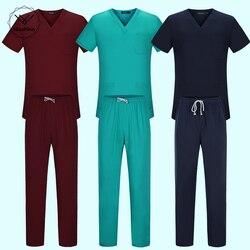 Эластичный пояс для тела, униформа медсестры для женщин и мужчин, медицинский костюм, скрабы, костюм, стоматологический больничный набор, ра...