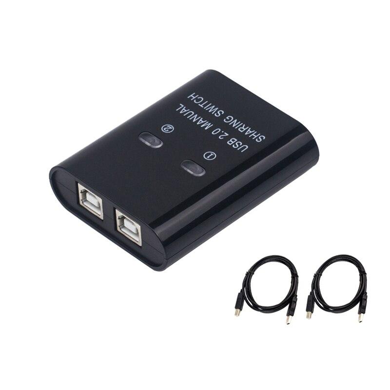 Переключатель USB 2 Порты и разъёмы ручной usb-хаб двумя компьютерами с U диск принтер устройство два в одном из USB2.0 маршрутизатору с кабелем