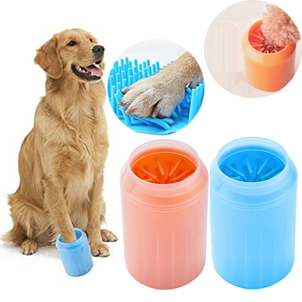Silicone Cat Dog Paw Washing Cup Paw Cleaning Cup For Large Small Dogs Portable Cleaning Cup Brush Pet Foot Quickly Wash Bucket