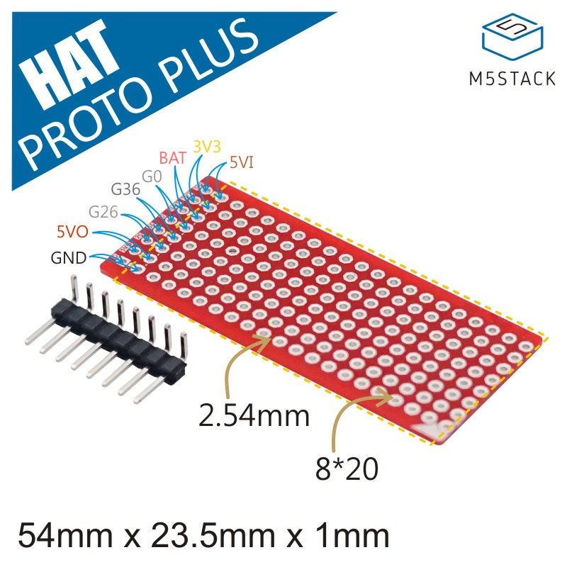 M5Stack Official StickC Proto Plus Hat Prototype Diy Protoboard Breadboard PCB Universal Board