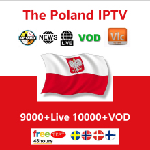 IPTV Poland Subscription World version France UK German Arabic French Portugal Smart TV M3U 6200 Live Box