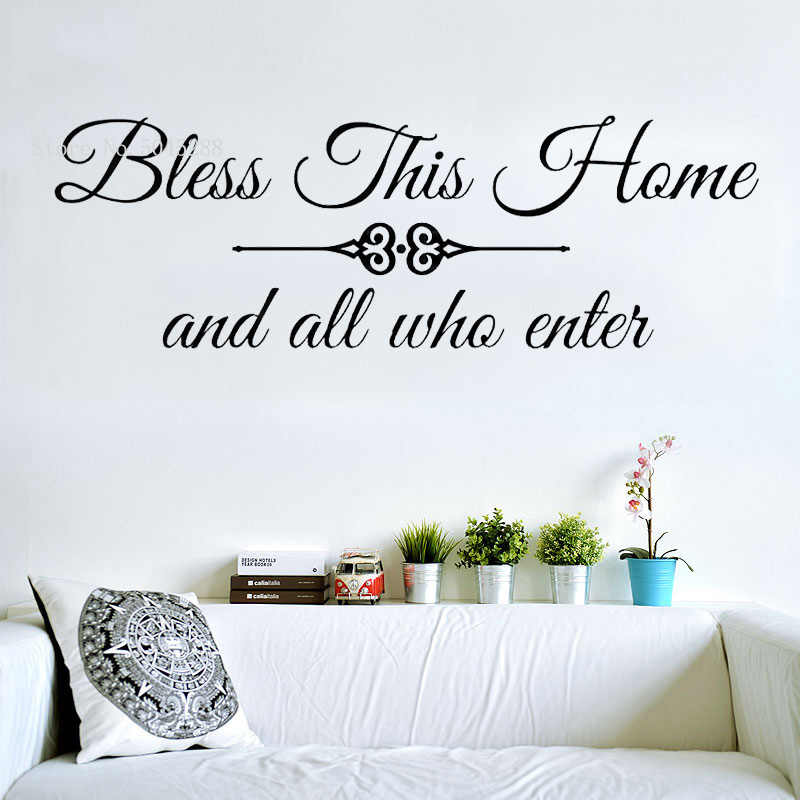 FAMILY HOME BLESSING VINYL WALL DECAL WALL TRANSFER