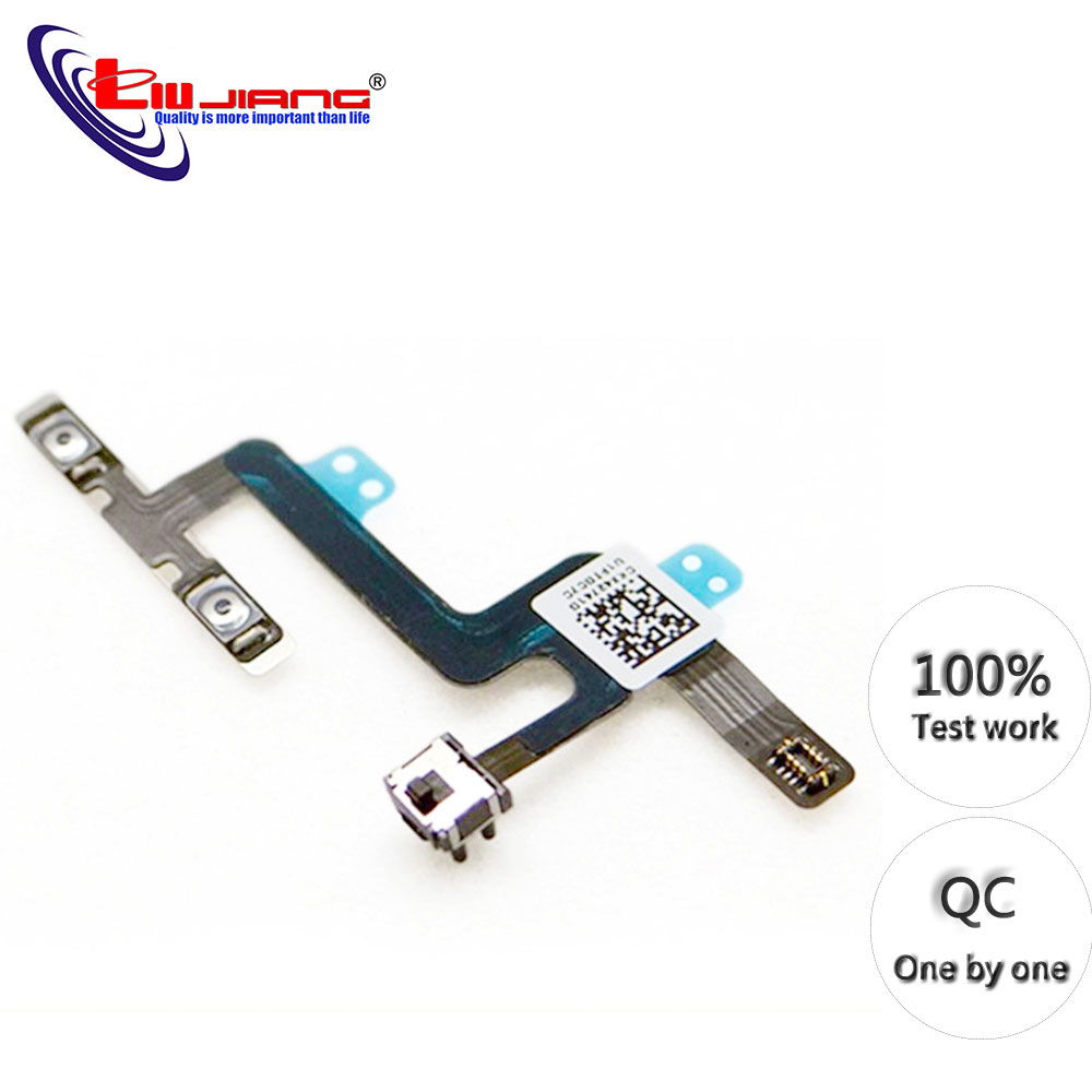 Original Power Button For IPhone 4s 5s 6 6G 6S 6plus  On Off Flex Cable Mute Volume Button Switch Connector Ribbon Repair Parts