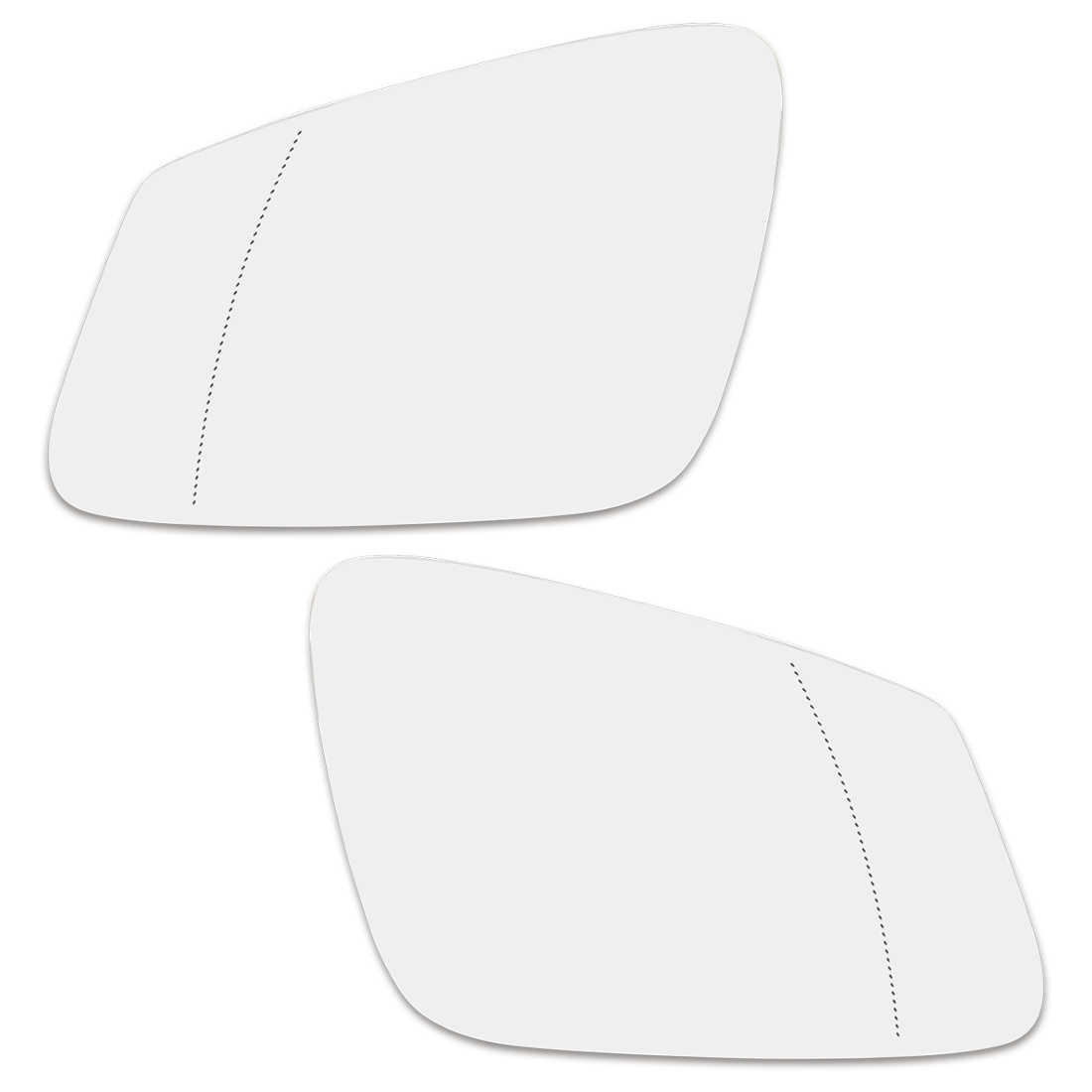 X AUTOHAUX Car Passenger Right Side Rearview Mirror Glass Heated with Backing Plate for BMW X5 2000-2006