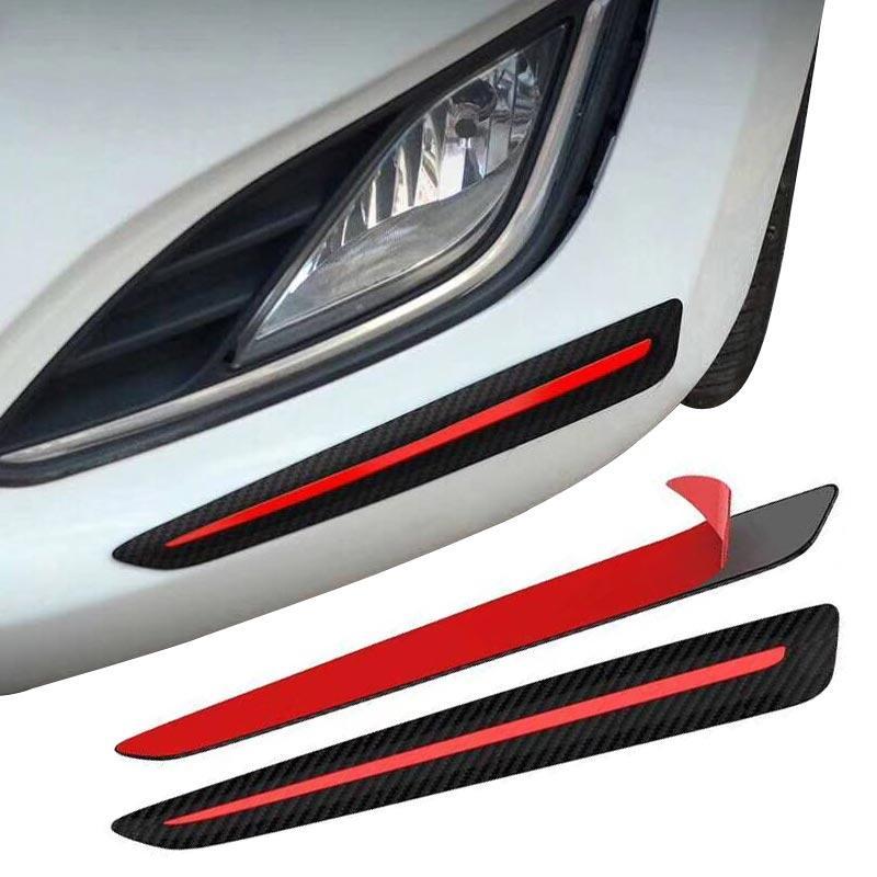 Углеродного волокна бампер автомобиля потертости с защитой от полоски от царапин Стикеры Авто кузова протектор Подзор подбородок стайлинг...
