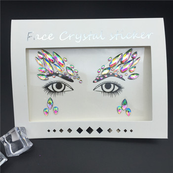 Temporary Rhinestone Glitter Tattoo Stickers Face Jewels Gems Festival Party Makeup Body Jewels Flash Beauty Makeup Tools 1