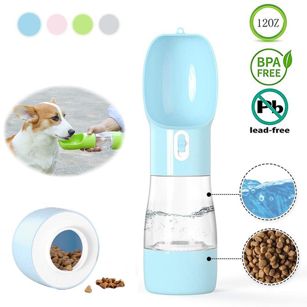 ПЭТ бутылка для воды для собак Портативный питатель питьевой воды миска для собак подкормка для щенков, крупных собак кошка открытый прогул...