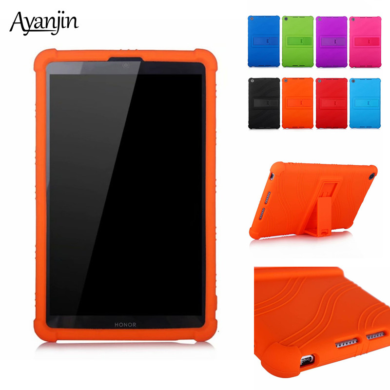 Silicone Case For Huawei Mediapad M5 Lite 8.0 Inch Protector Stand Cover For Honor 5 8.0 Honor Pad 5 8\