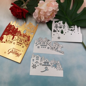 Image 4 - Christmas card metal cutting knife die 2019 new DIY scrapbook, used for card paper card decoration mold