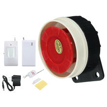 Infrared Detector Anti-theft Office LED Indicator Alarm System Set Safety Energy Saving Wall Mount Wireless Remote Control Loud(China)