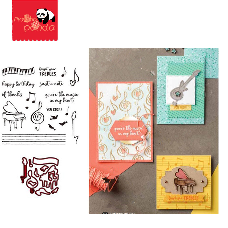 MP074 MUSIC Metal Cutting Dies And Stamps Stencil Scrapbook Embossing Craft Template Stamping Paper Card Decoration