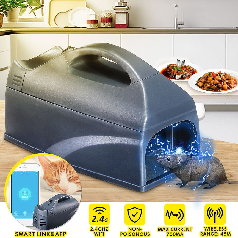 NEO Coolcam Wi-Fi Smart Electronic Rat Rodent Mouse Trap Killer Electronic Humane No Poison Use Shock Instant Exterminator
