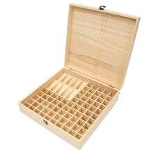 купить 85 Grid Solid Wood Essential Oil Bottle Storage Box Natural Environmental Protection Essential Oil Display Case дешево