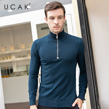 UCAK Brand Sweaters Men 2019 Casual Autumn Winter Pull Homme Pure Merino Wool Turtleneck Warm Fashion Cashmere Sweater Men U3084