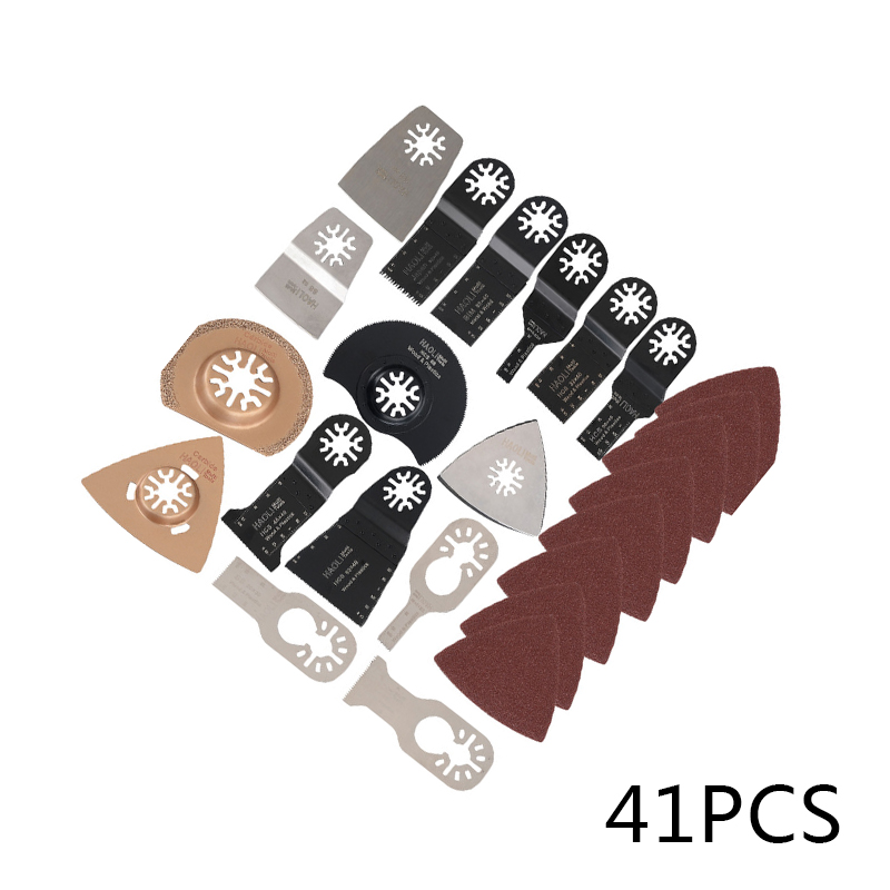 41Pcs Mixed Oscillating Multi Tool Saw Blade Kit For Fein Dewalt Bosch Multitool