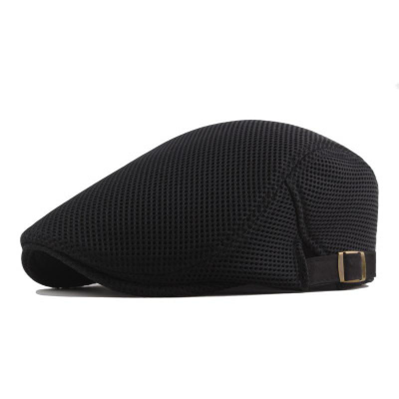 New Summer Hollow Mesh Breathable Sun Hat Classic Solid Color Beret Men And Women Universal Hats Outdoor Sports Cap