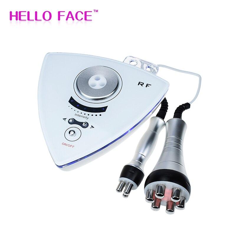 RF Radio Frequenz Gesichts Maschine Professionelle 2 in 1 RF hebe schönheit Maschine Haut Anzugs Hause Verwenden Tragbare Hautpflege werkzeug