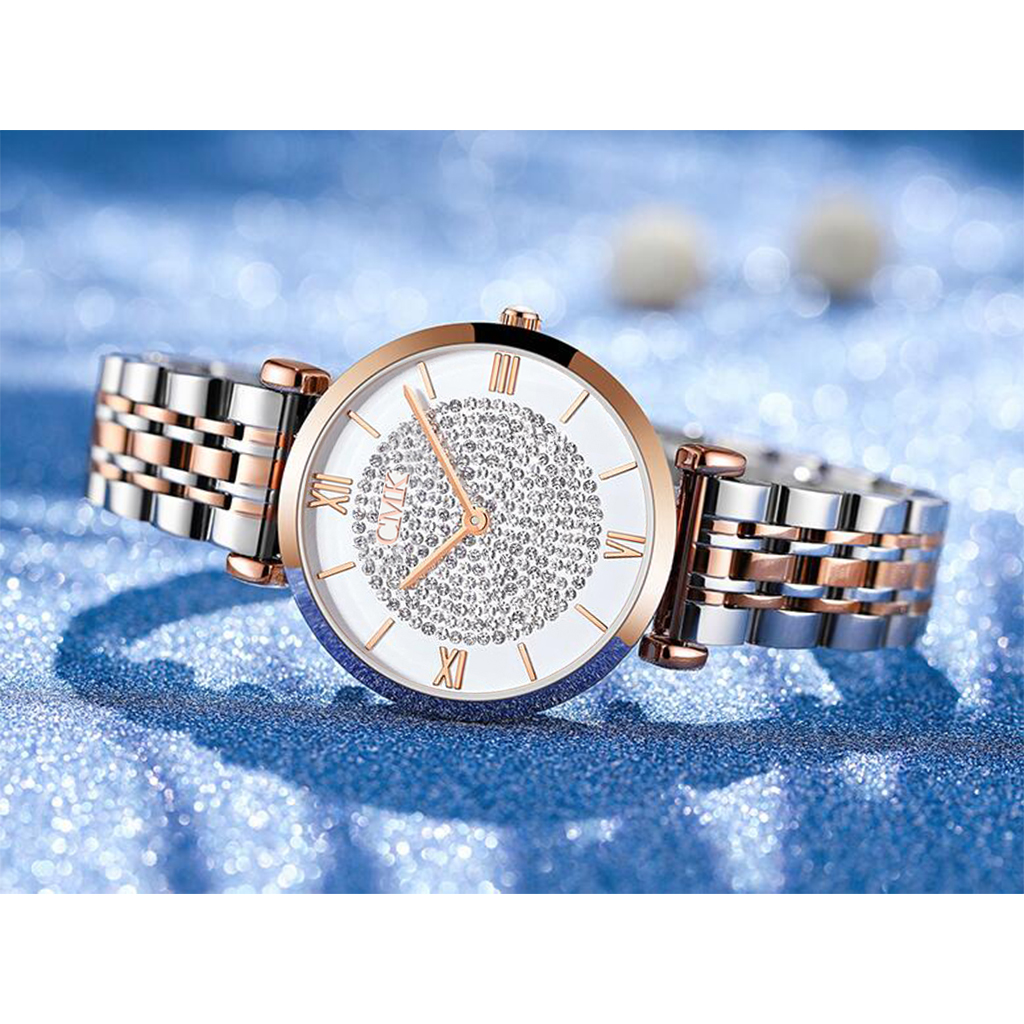 Women Watches Simple Romantic Rose Gold Ladies Watch -