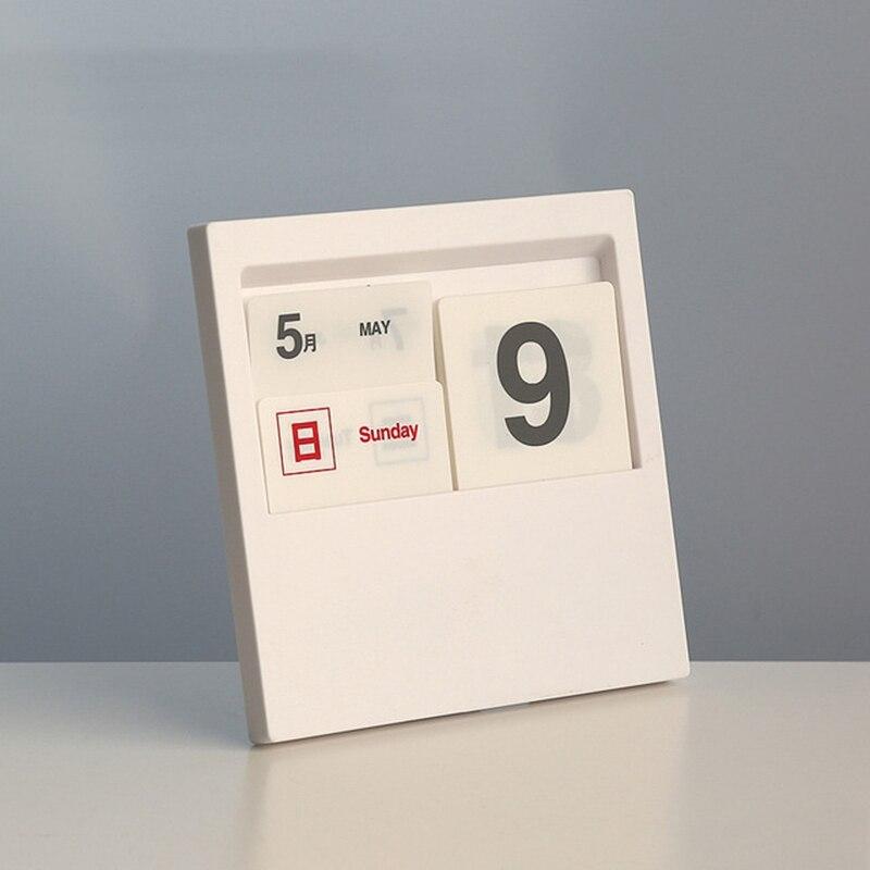 Creative Insert Type Desktop Perpetual Calendar 100 Years Perpetual Calendar Desk Decoration