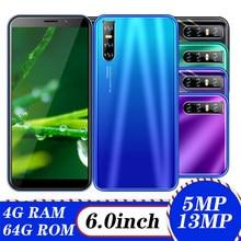 Original a41 telefone móvel tela cheia 6.0 Polegada 4 gb ram 64 gb rom 13mp hd câmera smartphones android 5.1 rosto desbloqueado celulares