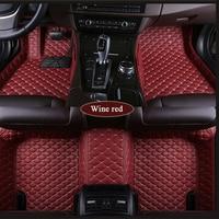 Custom Tesla Model S Model X Fit Alfa Romeo Stelvio Stelvio Giulia PU leather Waterproof protection Car floor mats Car styling