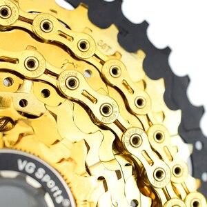Image 2 - VG sport górski rower szosowy części łańcuch rowerowy 8 9 10 11 prędkości Velocidade MTB łańcuchy 116L EL SL pół/pełne puste złoto srebro