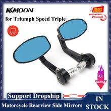 KKMOON 2 unids/par espejo retrovisor negro para motocicleta, para Triumph Speed