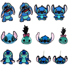 Dinks Earring Cartoon Lilo & Stitch Animated Epoxy Resin Earrings Character Brooch Little Monsters Cartoon Children's Day Gift cute cartoon animated lilo