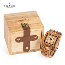 BOBO BIRD Timepieces Mens Wood Watches relogio masculin in W