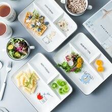 Керамическая фруктовые тарелки для закусок nordic Модные Простые