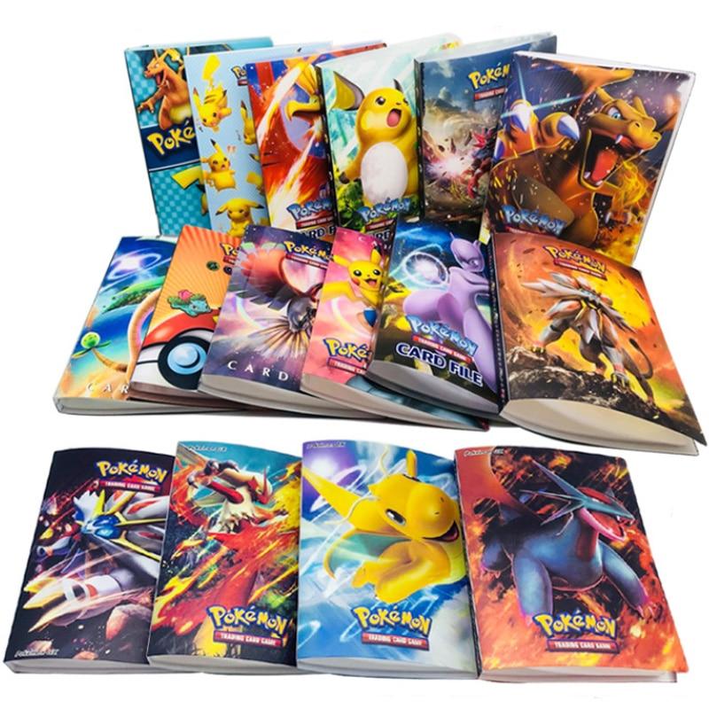 Takara Tomy Cartoon Anime Pocket Monster Pikachu Holder Album Toys Collection Pokemon Cards Album Book Top For Children Gifts