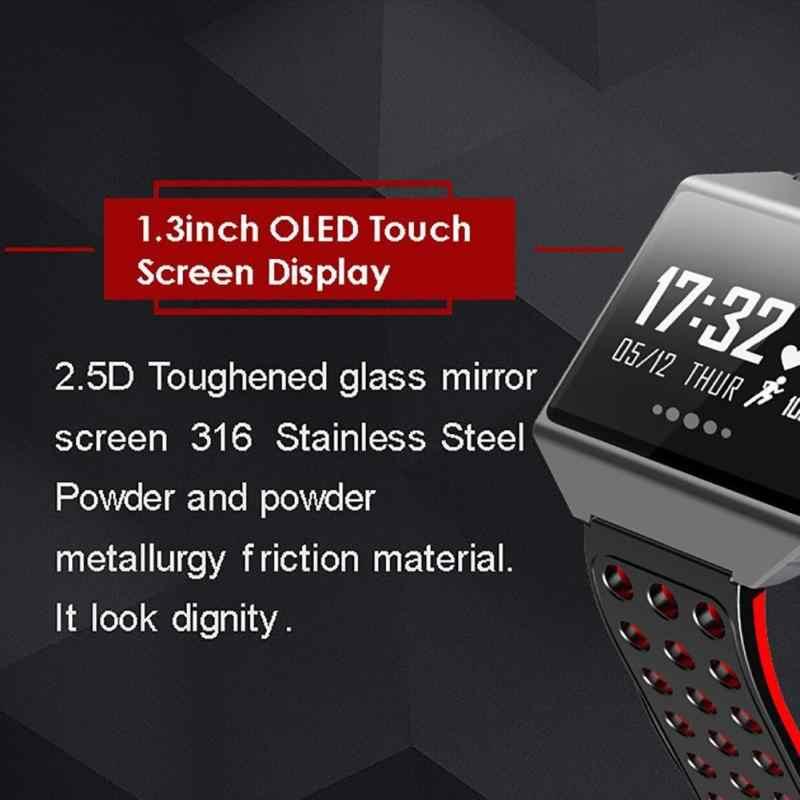 Reloj inteligente CK12 reloj de presión arterial Monitor de ritmo cardíaco pulsera inteligente rastreador de actividad Smartband Passometer para teléfono xiomi