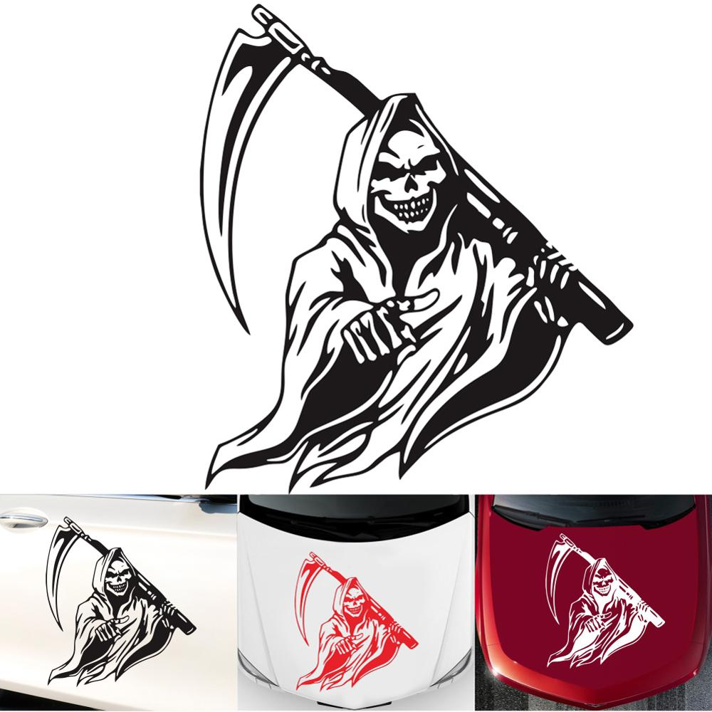 Grim Reaper Machine Gun Hunt Skull Car Truck Window Laptop Vinyl Decal Sticker