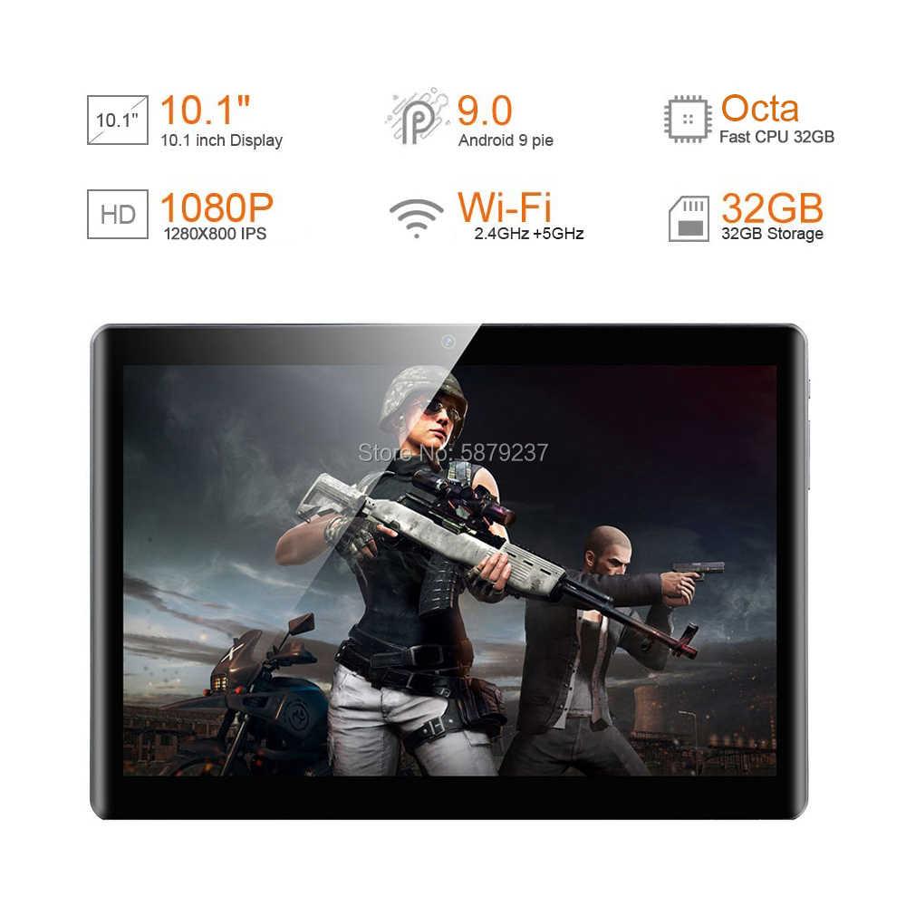 2020 sıcak yeni 10 inç tablet PC çift SIM 4G LTE 32GB ROM 8 çekirdek Android 9.0 pasta 5G WiFi Bluetooth GPS tablet + hediye 64GB TF kart