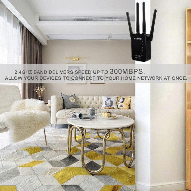 Wifi Wireless Repeater Router WLAN Signal Verstärker 2,4G ISP WiFi Range Extender PIX-Link 300Mbps WISP/router/AP