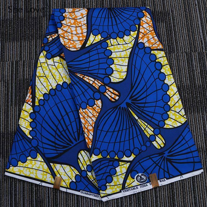 She Love 1 ярд 100% полиэстер восковая ткань с принтом Анкара Африканский Павлин печатная Лоскутная Ткань для женщин платье Шитье ремесла