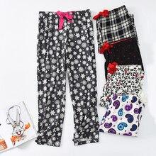 Ladies Tracksuit Pants Cotton fleece trousers Sleep Bottoms for Women