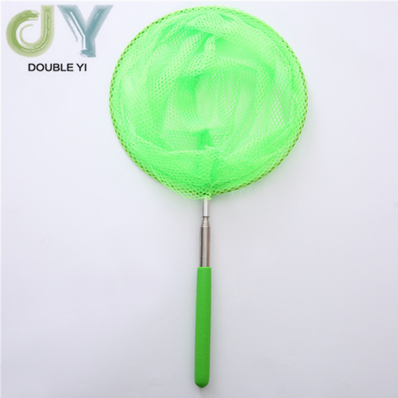 Free Shipping Green Stainless Steel Telescopic Nets Insect Nets Butterfly Children Nets Bamboo Nets Fish Protection 2pcs/pack