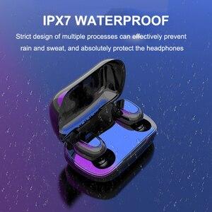 Image 4 - Bluetooth 5,0 Wirless Kopfhörer HIFI Stereo Bass Kopfhörer MicHeadset Wasserdichte Led anzeige Ohrhörer für Samsung Xiaomi Hinweis 10