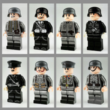 8Pcs set Military Ww2 German Army Figures Army Soldiers battle steed Compatible Building Blocks Bricks Toy