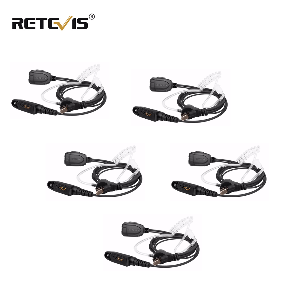 5pcs Retevis Air Acoustic Tube Walkie Talkie Earpiece For Motorola GP328PLUS For Retevis RT82/RT87/Ailunce HD1 Ham Radio J9127E