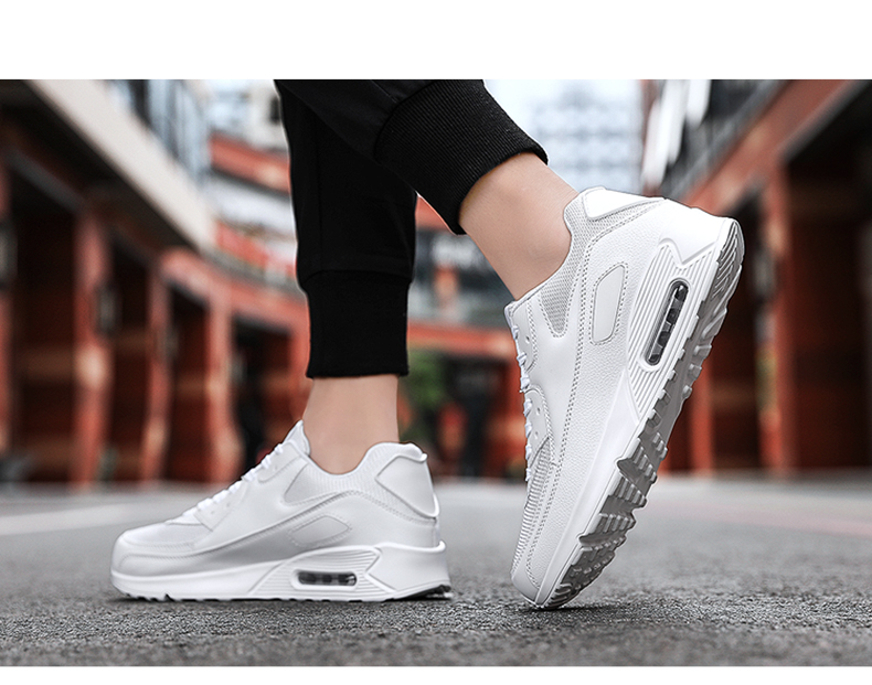 Breathable Lightweight Running Shoes Men Air Cushion Sneakers Max Size 47 Fitness Trainers Sports Shoes Women Outdoor Athletic