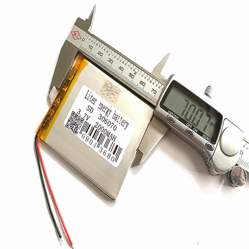 Livraison gratuite 3.7V lithium polymère batterie 306070 036070 GPS écran 2000MAH livres écrits à la main