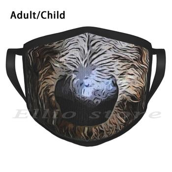 Irish Wolfhound Mouth Adult Kids Anti Dust DIY Scarf Mask Cute Animal Favorite Animal Funny Funny Animal Funny Muzzle Mouth image